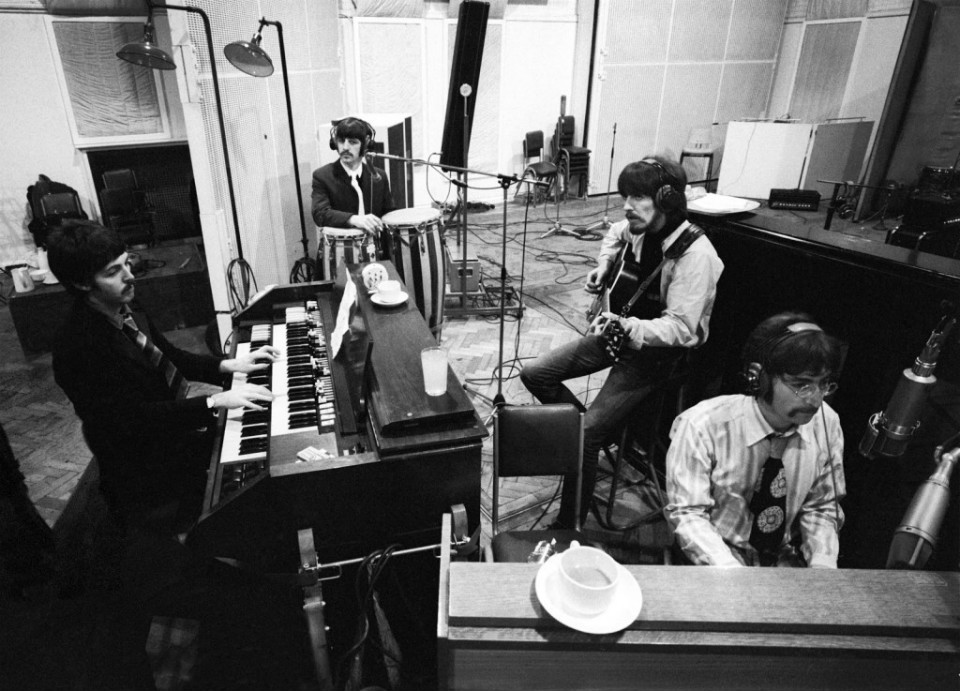 'The Beatles' ensayando