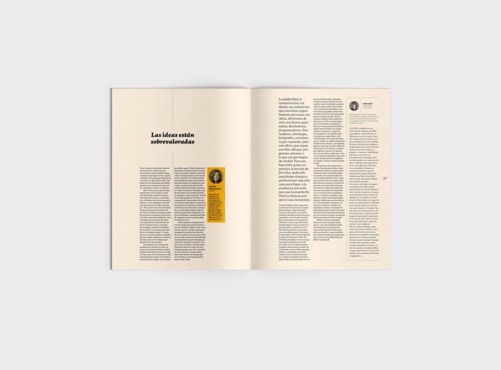 Número 6 de la revista Gràffica. Clientes y Creativos. Destinados a entenderse - Opinión