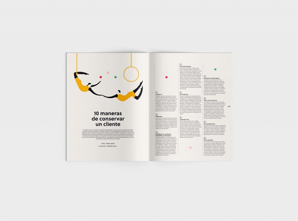 Número 6 de la revista Gràffica. Clientes y Creativos. Destinados a entenderse - reparo - 10 maneras para ganar a un cliente