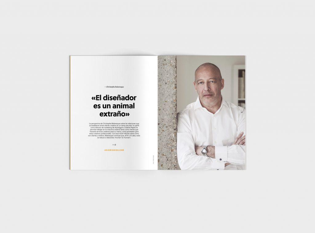 Número 6 de la revista Gràffica. Clientes y Creativos. Destinados a entenderse - entrevista Christophe Balaresque