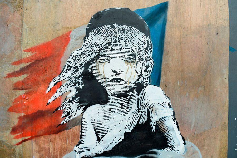 Banksy identidad bandera francesa 1