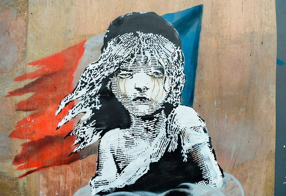 quién es Banksy identidad bandera francesa 1