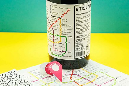 Un packaging de vino que emula un plano de metro