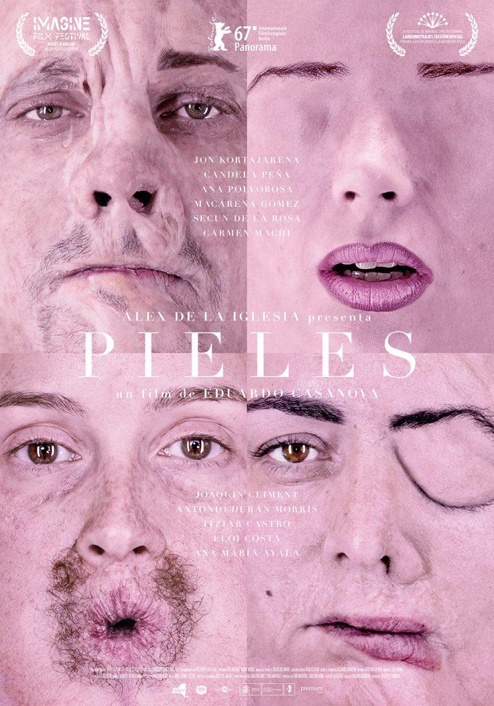 Pieles cartel con los cuatro rostros 001