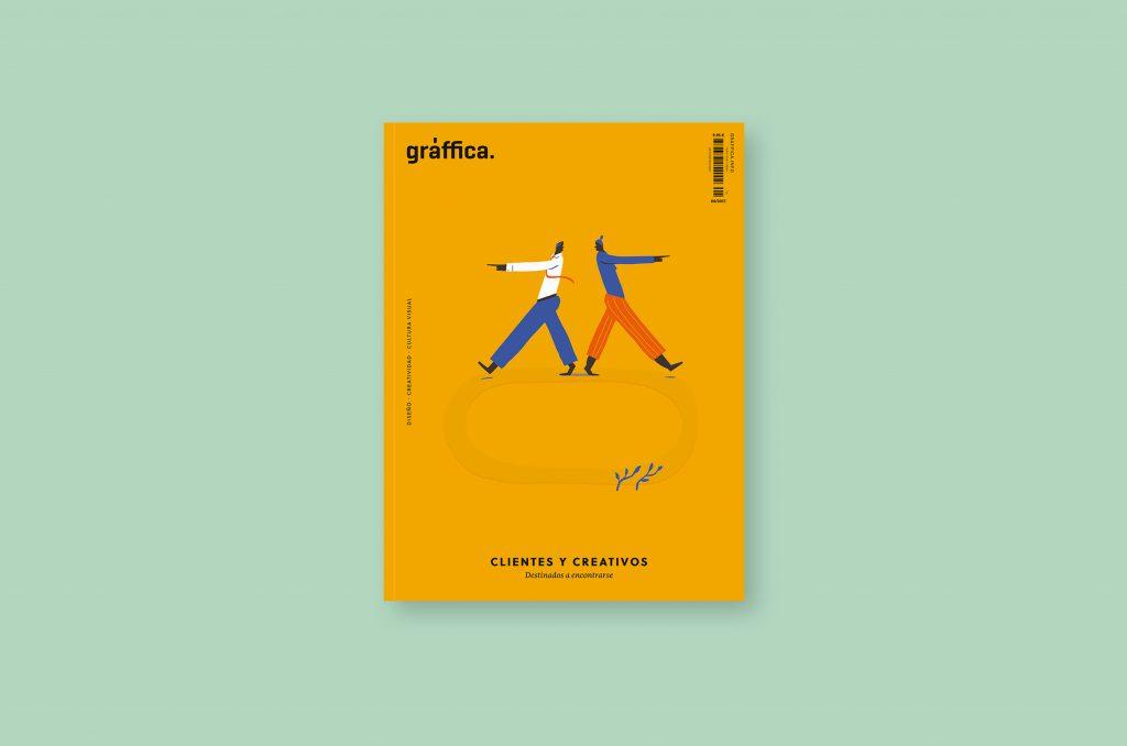 Número 6 de la revista Gràffica. Clientes y Creativos. Destinados a entenderse - portada