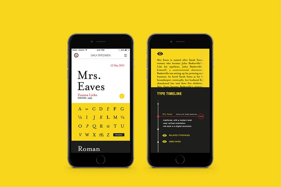 tipografia app personalidad 3