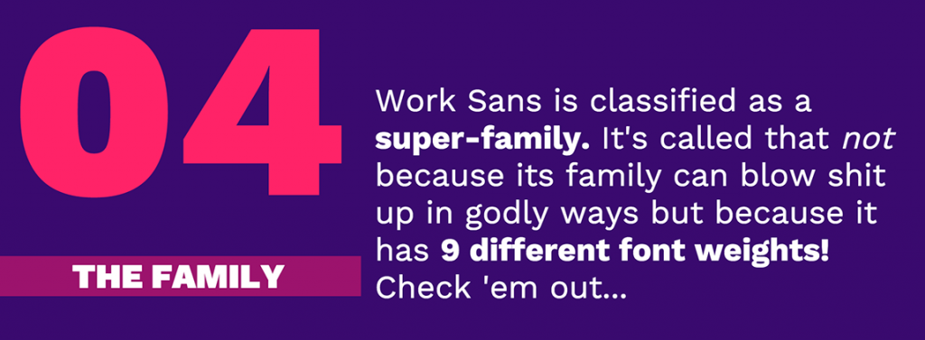 work sans google fonts