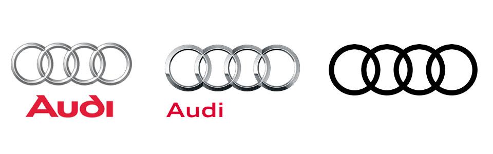 Evolución del logotipo de Audi: hasta 2009, 2009 y 2017