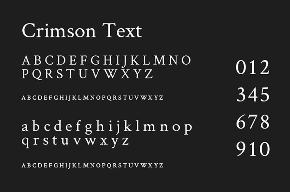 crimson text