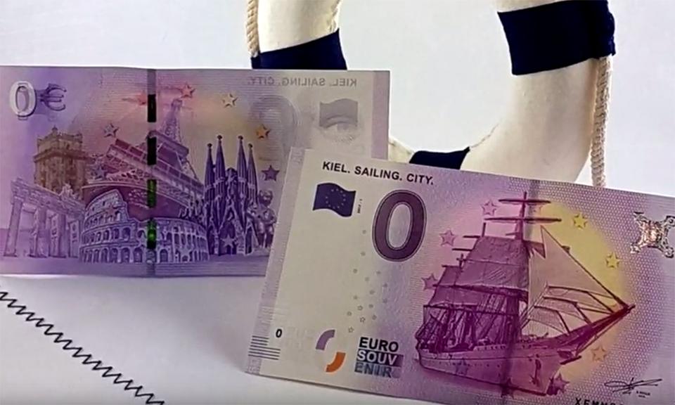 Alemania pone a la venta billetes de cero euros.