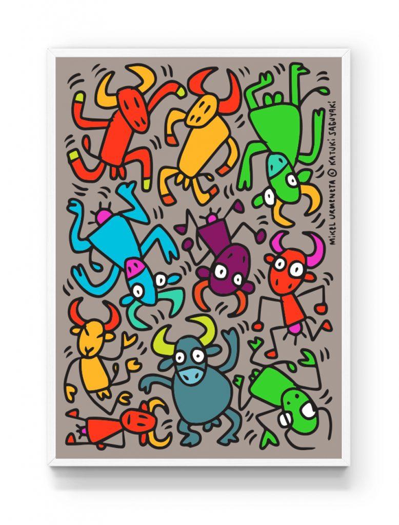 Dibujo solidario de Mikel Urmeneta