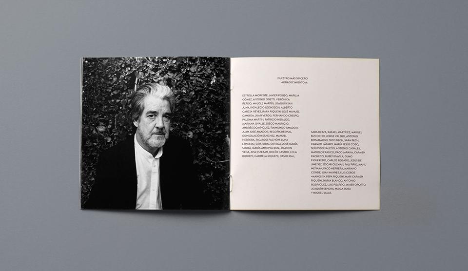 Retrato de Riqueni en el libreto de su último disco