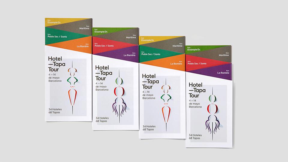 Trípticos de las ediciones de Hotel Tapa Tour