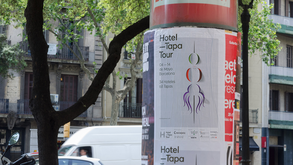 Cartelería de Hotel Tapa Tour para acercar el evento a los habitantes de las ciudades