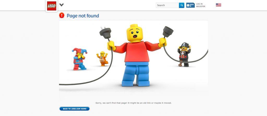 lego.com página error 404