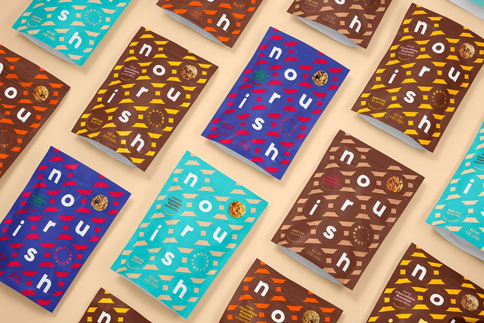 El rediseño del packaging de Nourish Snacks es el último trabajo del estudio Collins