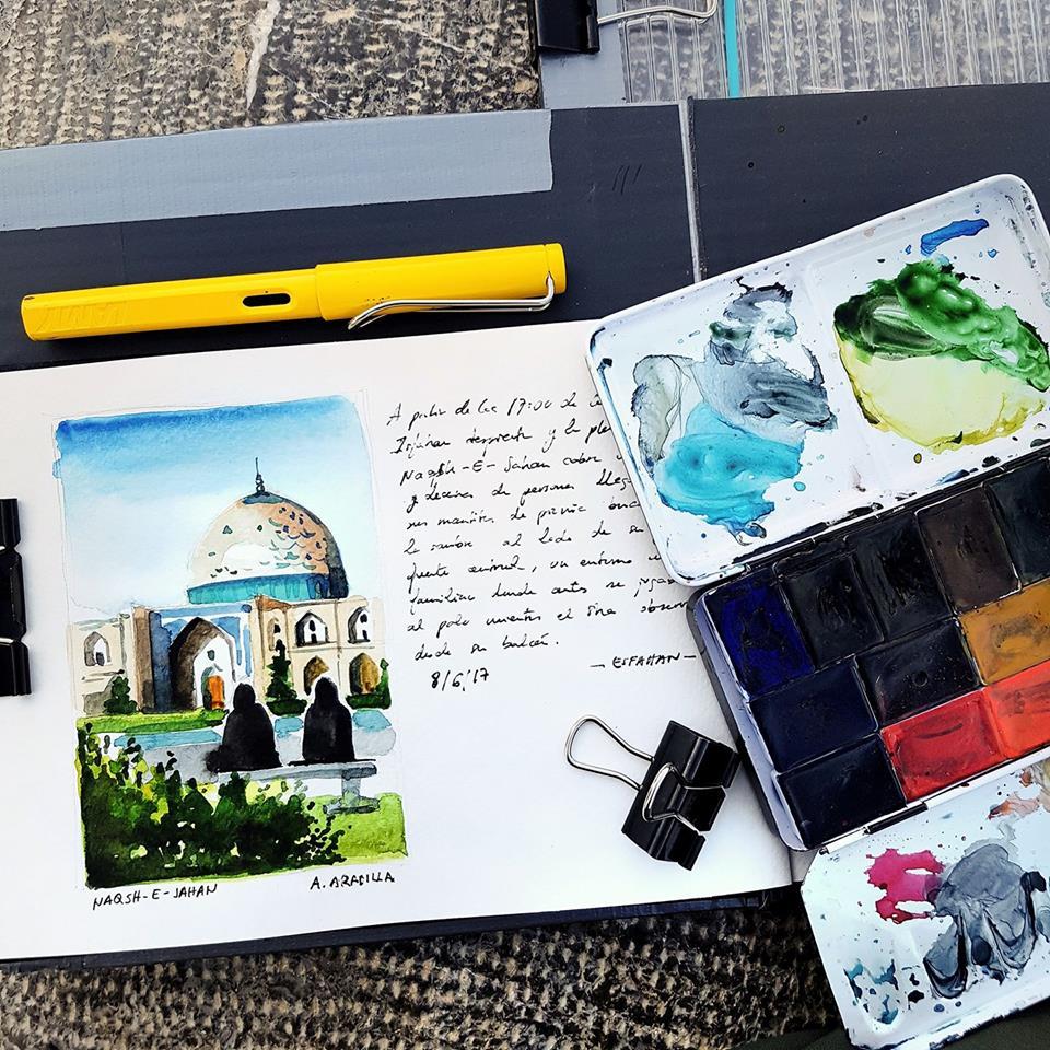 Viajar e ilustrar, el nuevo proyecto de Urban Sketch de Alicia Aradilla
