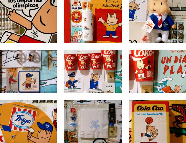 merchandising de los Juegos Olímpicos del 92