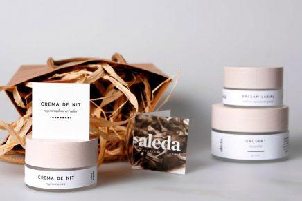 Aleda, una proyecto de branding de cosmética natural de Mel Martín