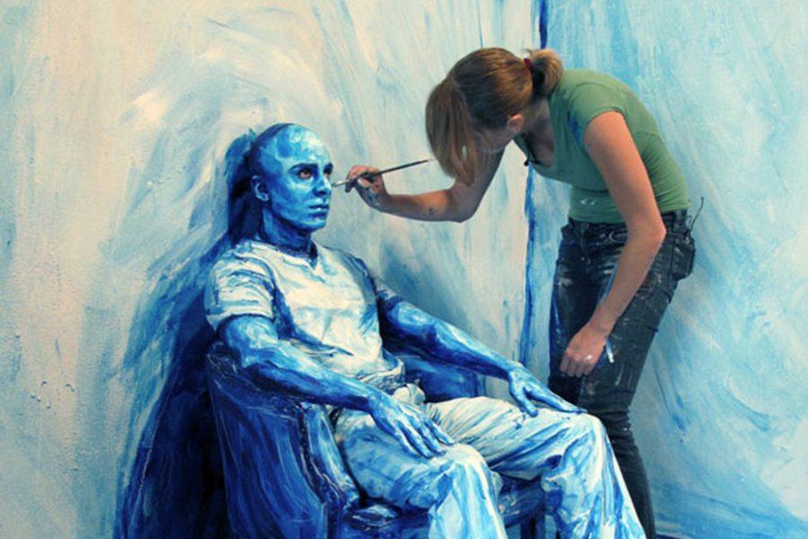 Las pinturas de Alexa Meade transforman el espacio 3D a 2D