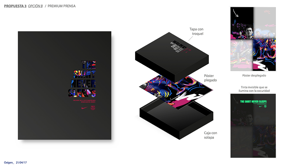 ¿Quién diseña el packaging de las camisetas oficiales del Barça? - bocetos 1