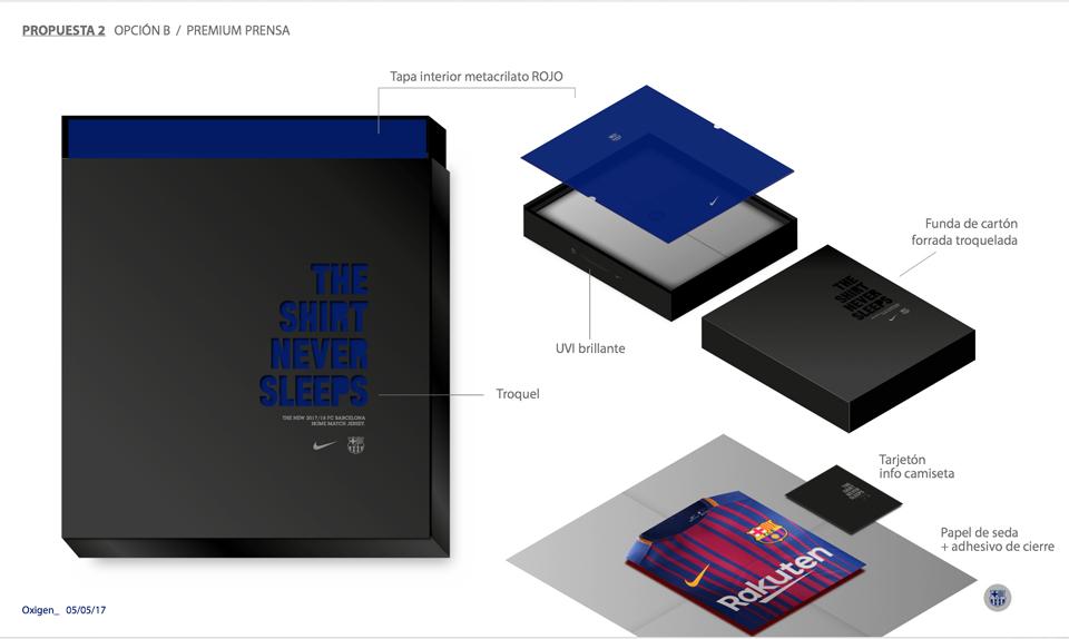 ¿Quién diseña el packaging de las camisetas oficiales del Barça? - bocetos 3