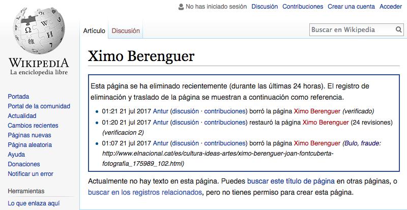 Ximo berenguer y Joan Fontcuberta