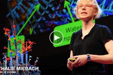 Nathalie Miebach transforma datos meteorológicos en esculturas y partituras