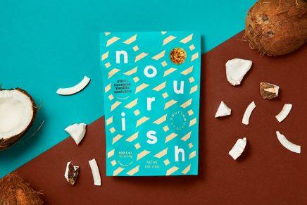 Los colores del nuevo packaging de Nourish Snacks recrean el sabor de los aperitivos