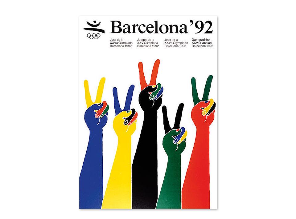 Cartel Olimpiadas Barcelona 92 diseñado por Enric Satué