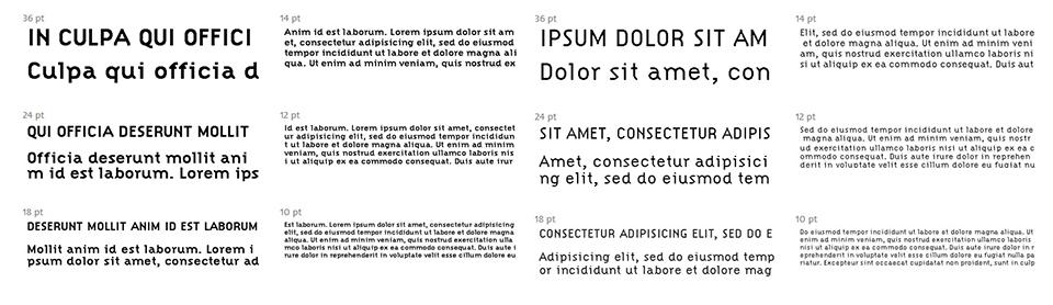 Citizen, la tipografía de aspecto redondeado con líneas rectas