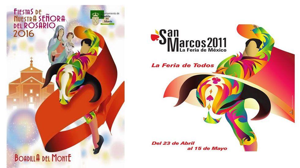 Cartel plagiado de Javier Antonio Marinas