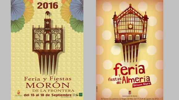 CoCos en el cartel anunciador de las fiestas de Morón de la Frontera 2016