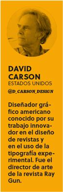 Ficha Bio David Carson - Revista Gràffica #6