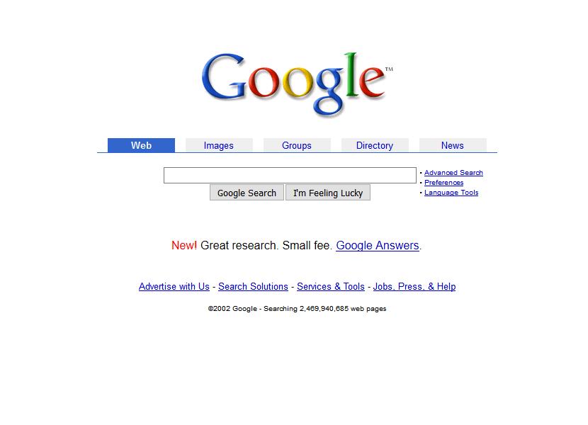 Google presenta el nuevo aspecto de su página de inicio