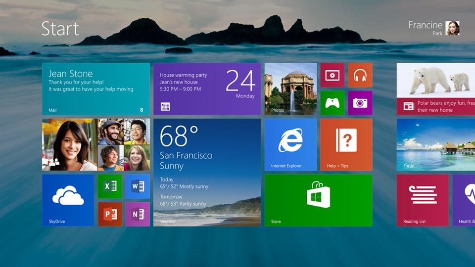 Windows Metro interface