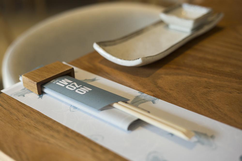 Nozomi detalle mesa