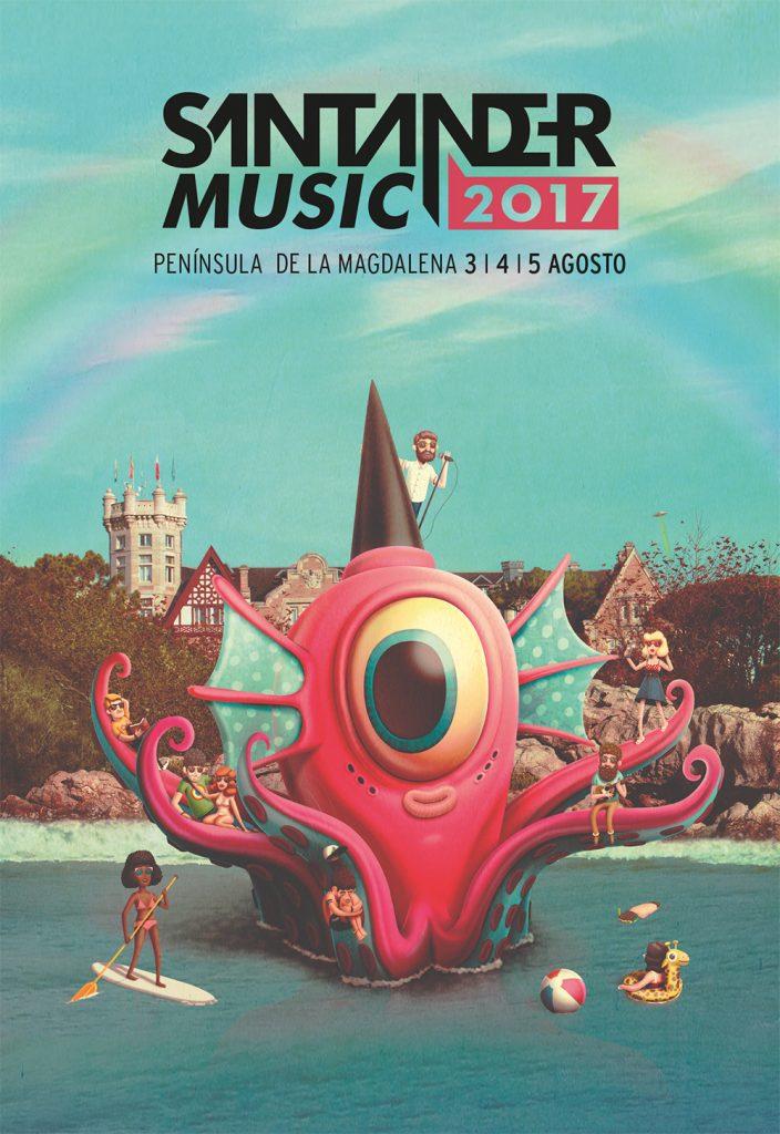 La peculiar y cósmica visión de Bakea pone la imagen al Santander Music 2017