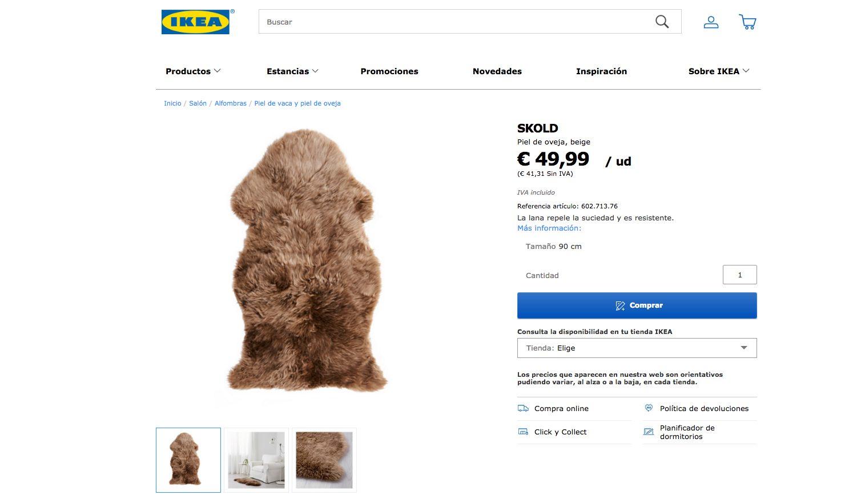 Alfombra de Ikea