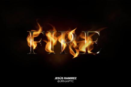 ¿Cómo incluir el efecto de fuego en textos con Photoshop?