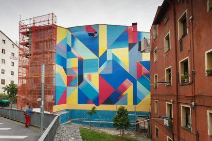 Anna Taratiel realiza un mural de gran formato en Bilbao La Vieja