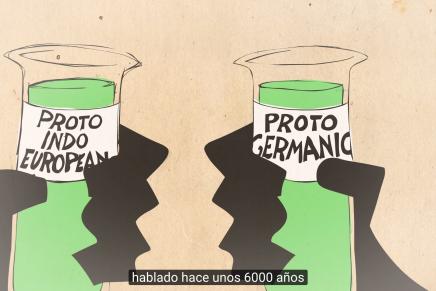 Las ilustraciones de Patrick Smith narran la evolución de la lengua inglesa