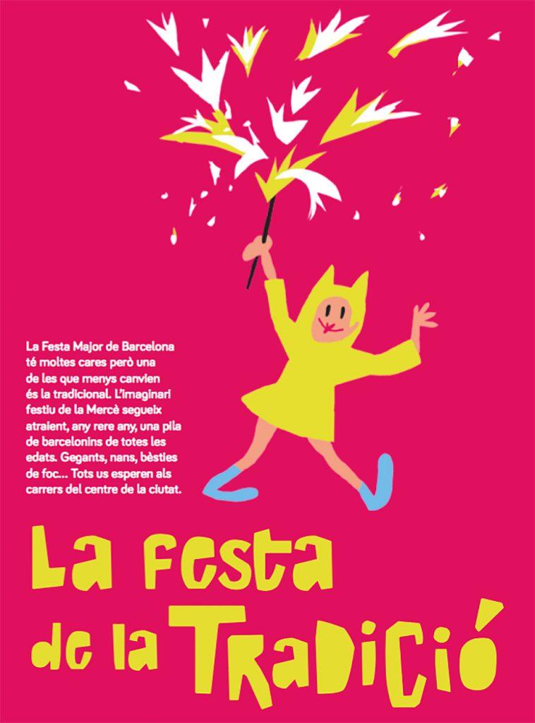 Ilustración y tipografías del programa de fiestas de la Mercè 2017 - 1