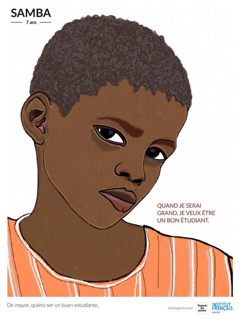 Samba, uno de los autores de la exposicion de ilustracion solidaria