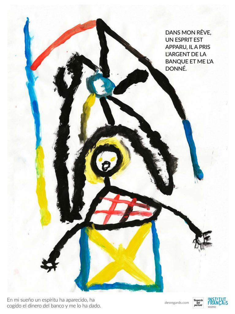 Dibujo del sueno de uno de los ninos de Senegal