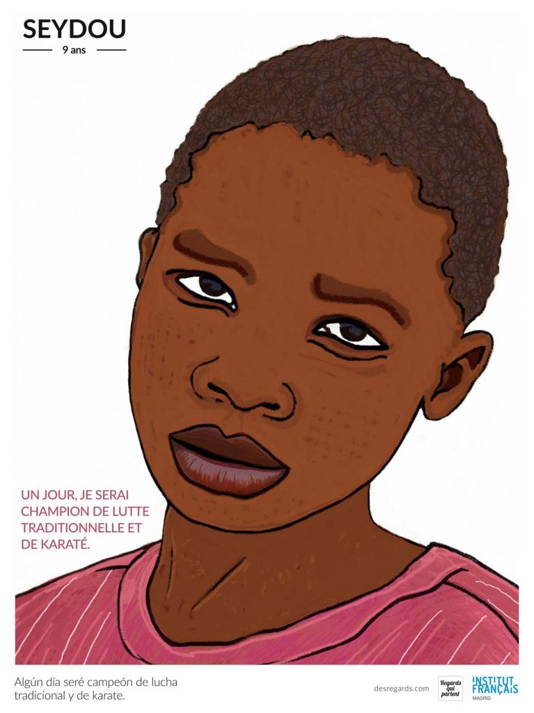 Retrato de Seydou, uno de los talibus