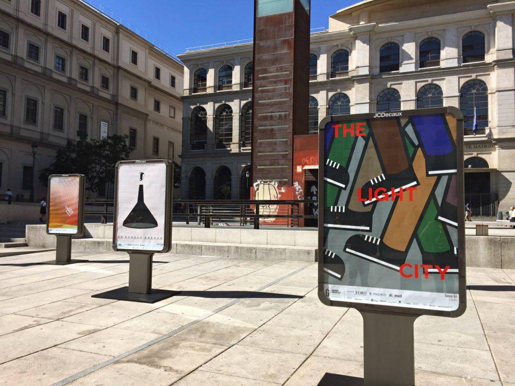 Embudo para Madrid Gráfica 17, en el Paseo del Prado y la Plaza Sánchez Bustillo del Museo Reina Sofía.