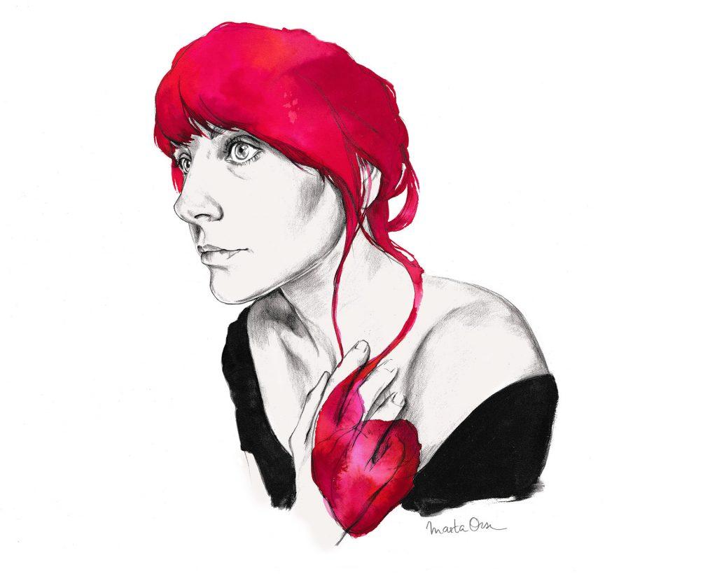 Ilustracion de la coleccion 'Voy a contarlo todo' de Marta Orse