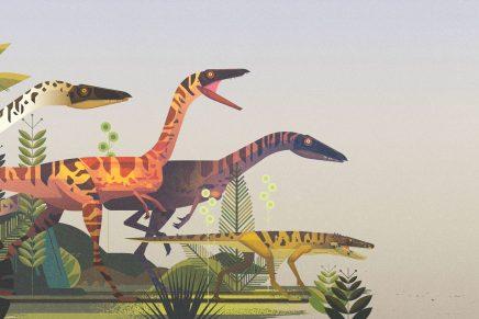 James Gilleard nos lleva de vuelta a la prehistoria con sus ilustraciones de dinosaurios