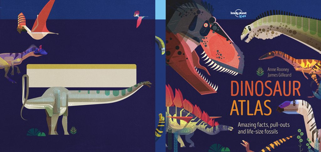 Contraportada y portada para el Dinosaur Atlas